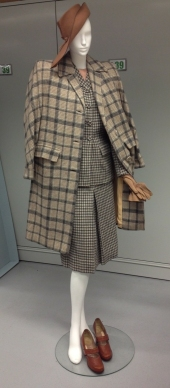 """Town and Country"" ensemble by Davidow, 1947. Museum of the CIty of New York, 2013.5.6A-H, J."