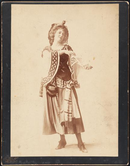 "Rockwood. [Alice Nielsen as Musette or Irma in ""The Fortune Teller"".] 1898. Museum of the City of New York. 37.440.381."