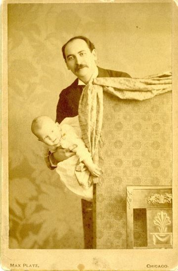 Max Platz. [Harry B. Smith and his son Sidney.] 1892-1893. Museum of the City of New York. 61.150.1353.