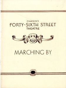 Program for Marching On. 1932. Museum of the City of New York. Theatrical production files.