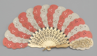 Child's pliant brisé spangled silk leaf fan, 1860-1869. Museum of the City of New York, 73.155.12.