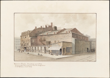 W. Wilson. Wallack's Theatre, Broadway and 13th Street. ca. 1874. Museum of the City of New York. 38.419.5