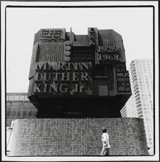 Edmund Vincent Gillon, [Martin Luther King, Jr. memorial.], ca. 1976. Museum of the City of New York, 2013.3.1.448.