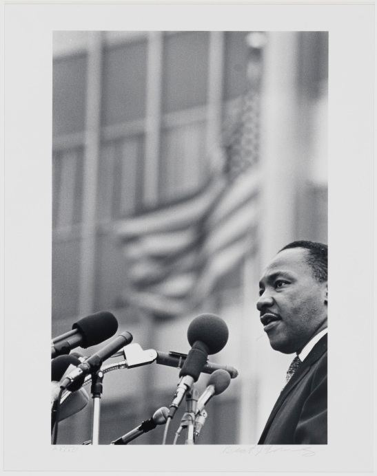 Benedict J. Fernandez, untitled [Dr. Martin Luther King, Jr.], April 15, 1967. Museum of the City of New York, 99.150.3.