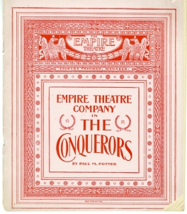 Brochure for The Conquerers, 1899. Museum of the City of New York. Theatrical production files.