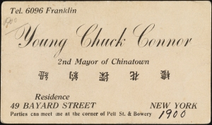 Young Chuck Connor, 2nd Mayor of Chinatown. 1900. Museum of the City of New York. 40.343.2