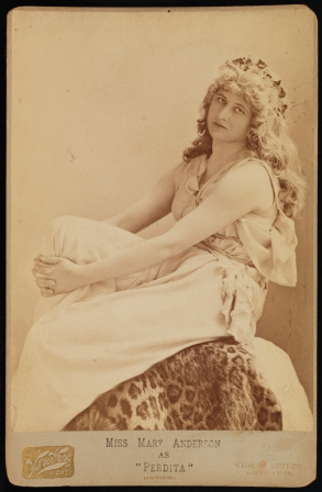 "Miss Mary Anderson as ""Perdita."" ca. 1885. Museum of the City of New York. 39.317.12."