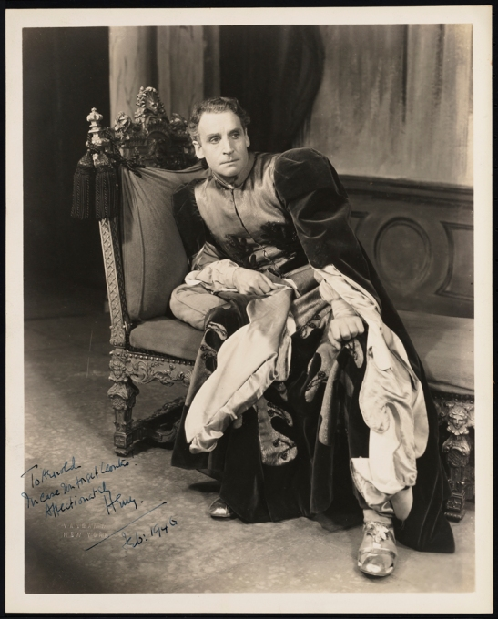 Vandamm Studio. [Henry Daniell as Leontes.] 1946. Museum of the City of New York. F2013.41.9098.
