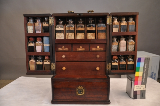 Reese's Medical Hall, London. Reese's Universal Dispensary, ca. 1814 (following conservation). Museum of the City of New York, 41.304.4.