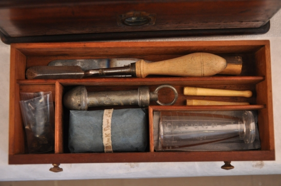 Reese's Medical Hall, London. Reese's Universal Dispensary, ca. 1814 (detail of interior drawer after treatment). Museum of the City of New York, 41.304.4.