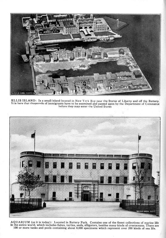Aquarium and Ellis Island