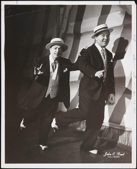 "John E. Reed. [The First Man and the Second Man performing the ""Brush Up Your Shakespeare"" number in the national tour of Kiss Me, Kate.] ca. 1950. Museum of the City of New York. 68.80.1253."