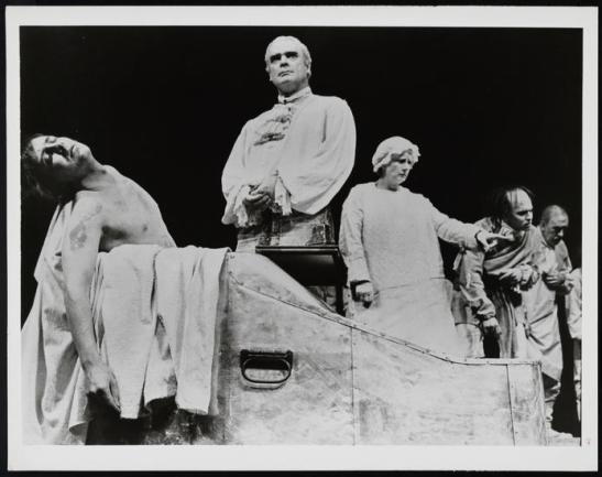 Unknown. [Marat/Sade theater still.] 1965. Museum of the City of New York. 81.54.152.