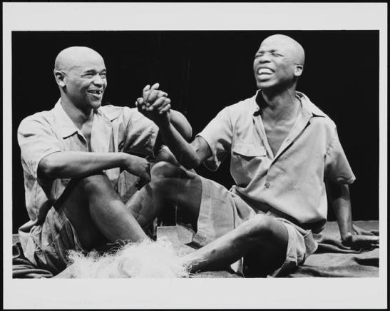 William L. Smith. [Winston Ntshona as Winston and John Kani as John in The Island.] 1974. Museum of the City of New York. 82.12.47.