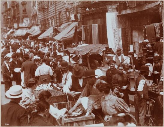 Street Vendors, 1898. Hester St.