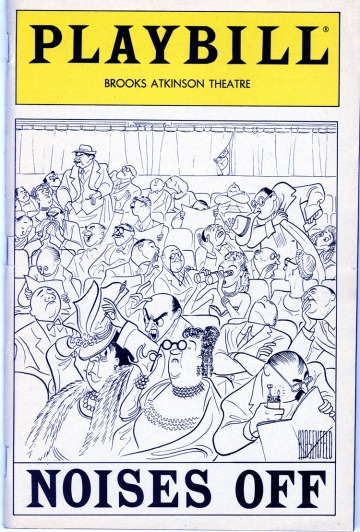 Theater program for Noises Off, 1983. Museum of the City of New York. Collection on theatrical productions.
