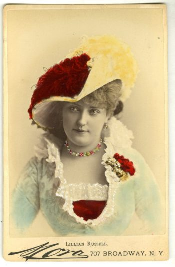 Mora. [Lillian Russell]. ca. 1880. Museum of the City of New York. 39.368.87