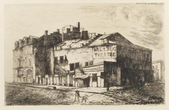 William H. Wallace. Wallack's Old Theatre. 1892. Museum of the City of New York. 29.100.840.