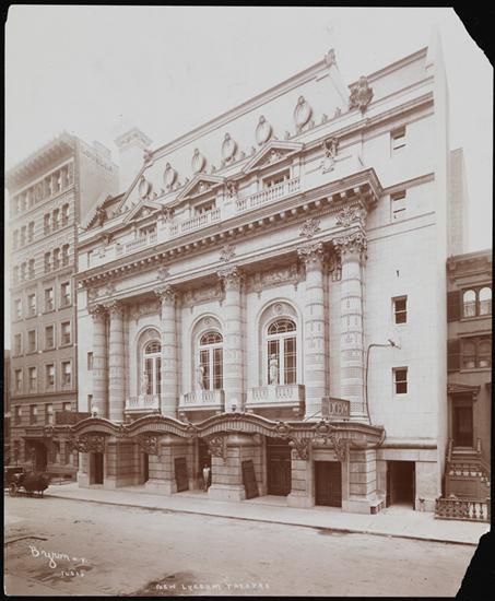 Byron Company (New York, N.Y.) Theatre, Lyceum (New) 149 West 45th Street. 1903. Museum of the City of New York. 93.1.1.1557.