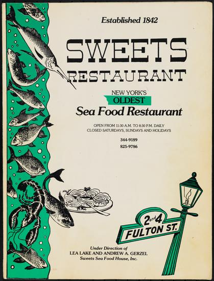 Sweets Restaurant, 1975-1992. Museum of the City of New York, 97.146.343.