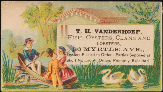 T. H. Vanderhoef, Fish, Oysters, Clams and Lobsters, 1870-1900. Museum of the City of New York, F2012.99.916.