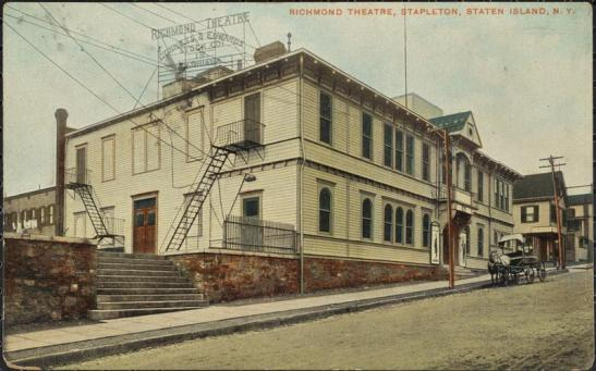 Temme Co. postcard of Richmond Theatre, Stapleton, Staten Island, N.Y. ca. 1908. Museum of the City of New York. X2011.34.2604.