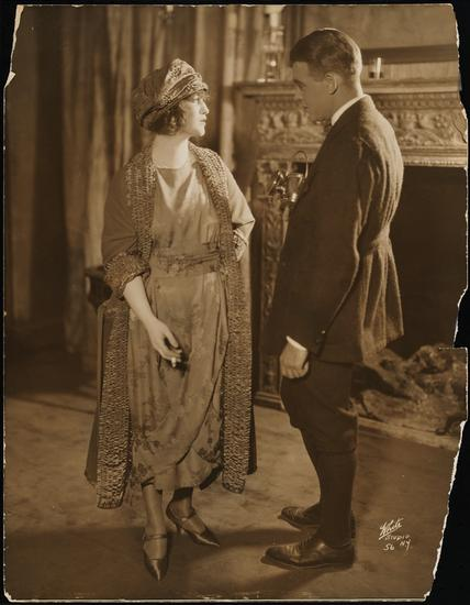 White Studio (New York, N.Y.) [Francine Larrimore as Theodora Gloucester and Robert Ames as Billy Wade in Nice People.] 1921. Museum of the City of New York. 48.210.1412.