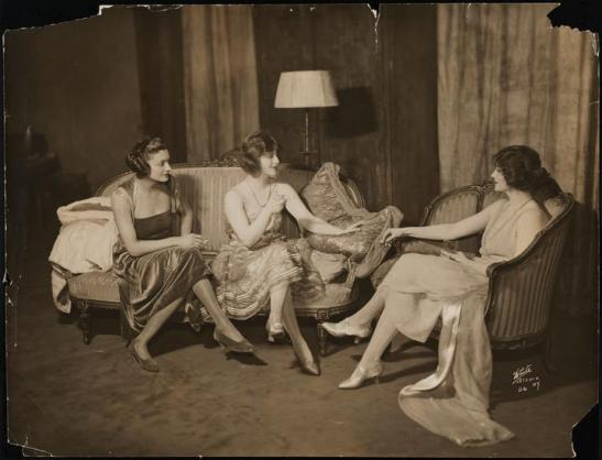 White Studio (New York, N.Y.) [Katharine Cornell as Eileen Baxter-Jones, Francine Larrimore as Theodora Gloucester and Tallulah Bankhead as Hallie Livingston in Nice People.] 1921. Museum of the City of New York. 48.210.1413.