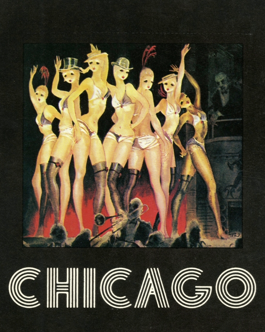 Souvenir program for Chicago, 1976. Museum of the City of New York. Theater production files.