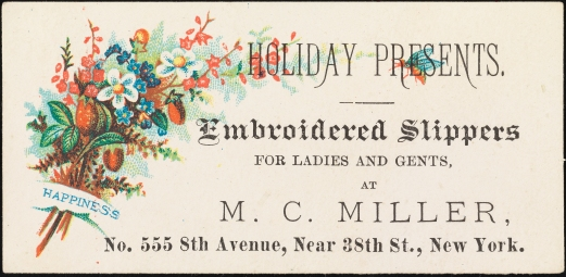 M.C. Miller. ca. 1880. Museum of the City of New York. 40.275.209