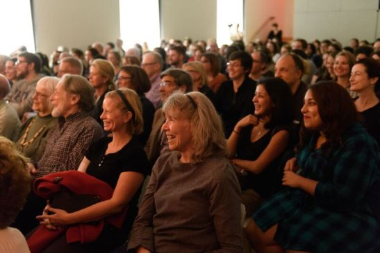 The audience at The Moth Story Slam. Photograph by Filip Wolak Courtesy MCNY.