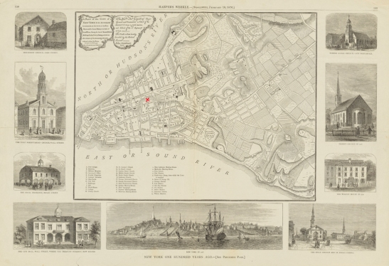 Harper's Weekly. [Reproduction of a map of New York in 1776] 1876. Museum of the City of New York. 29.100.2601.