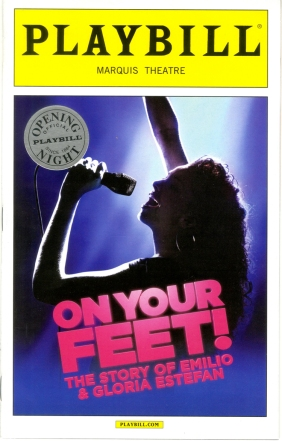 Program for On Your Feet!, Broadway production files 2015-2016 season. Museum of the City of New York.