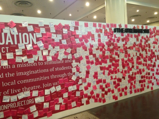 Situation Project post-it board. Prompt: #theatremakesme. BroadwayCon 2017 - Day 3.