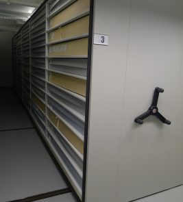 Compact Storage in the Museum of the City of New York, 2017. Photography courtesy of the author.
